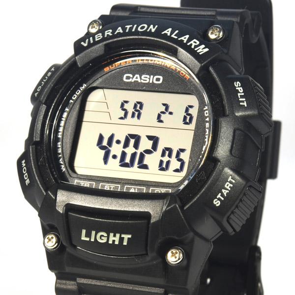 카시오 진동알람 W-736H-1A 남성 전자시계 (군인)