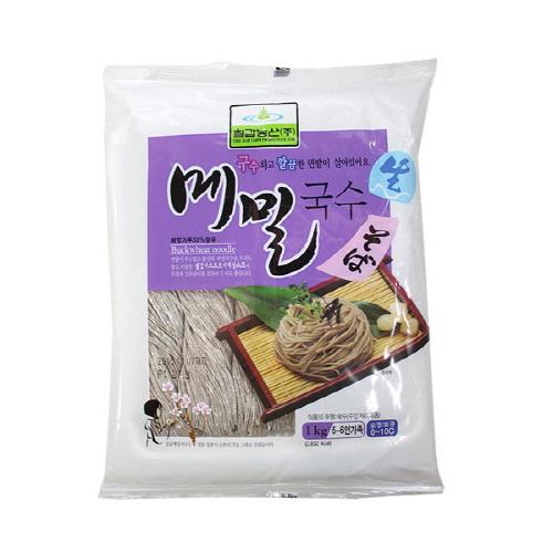 칠갑 생메밀국수1kg 10개 박스 판모밀 막국수 소바, 1kg