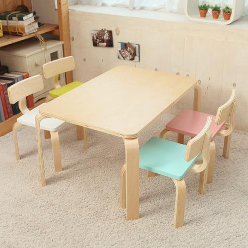 일루일루 프로스 어린이 책상세트 스퀘어형 테이블1+의자2, 민트+핑크