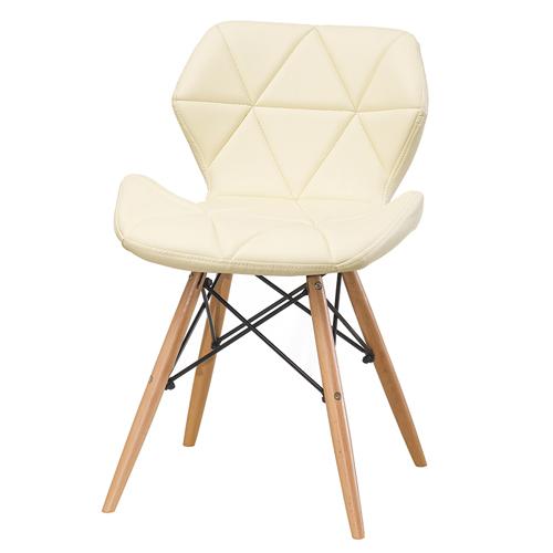 제퍼슨가구 디자인체어 가죽 커피숍 의자, 베이지