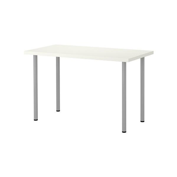 IKEA LINNMON/ADILS 테이블 컴퓨터책상 120 x 60, 테이블:화이트 다리:실버