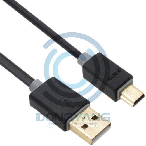 prolink 블랙 USB2.0 미니5핀 케이블 1.5m, 1