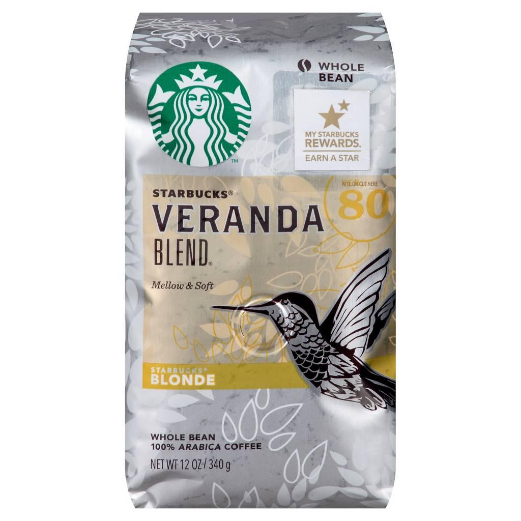 스타벅스 베란다 멜로우&소프트 홀빈 커피, 원두, 340g