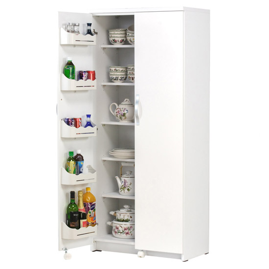 팀버스 애니스 냉장고형수납장(특대) 다용도수납장, 화이트