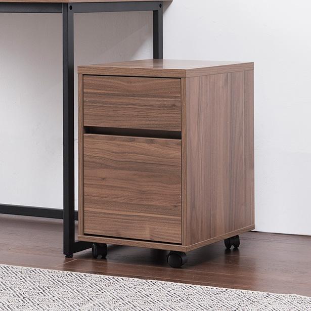 리바트온라인 프렌즈 스틸 이동 서랍박스 (월넛) 책상, 단일상품