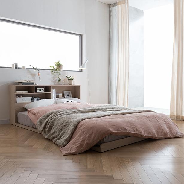 리바트온라인 뉴트 저상형 퀸 침대 수납 헤드형(매트별도), 단일상품