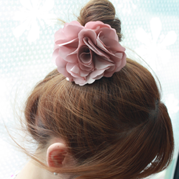 레인걸 A-2026(플라워봉) 머리핀 머리끈 꽃헤어끈