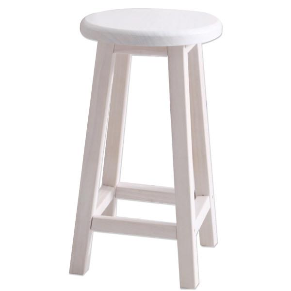 가구야히메 원목 원형 스툴 모음 인테리어 의자, 완조립원형 화이트