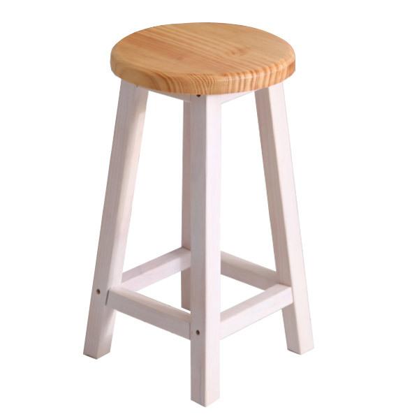 가구야히메 원목 원형 스툴 모음 인테리어 의자, 완조립원형 내추럴
