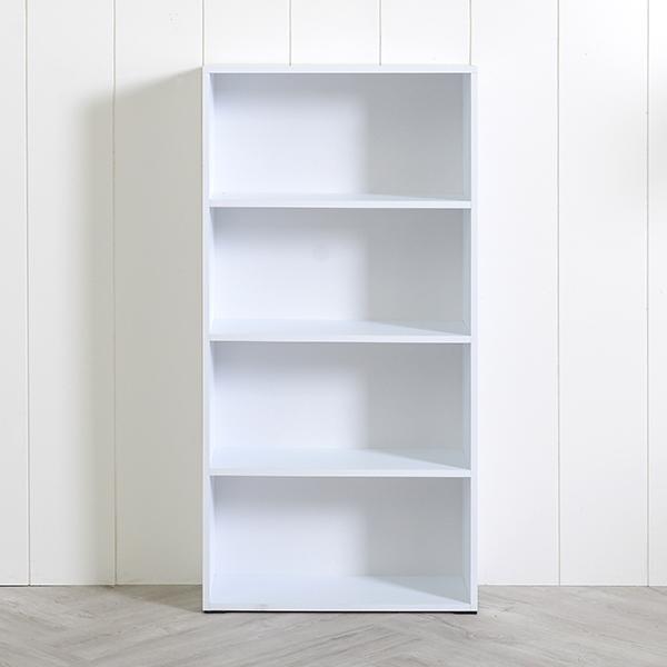 [엣지퍼니처]심플 600 4단 책장, 백색