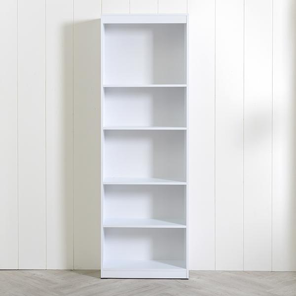 [엣지퍼니처]심플 600 5단 책장, 백색