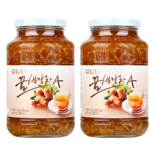 담터 꿀생강차A 1kg x 2개, 1개, (1kg+1kg)