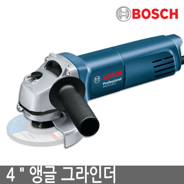BOSCH 보쉬 GWS6-100S 4인치 앵글 그라인더, 1개 (POP 57438229)