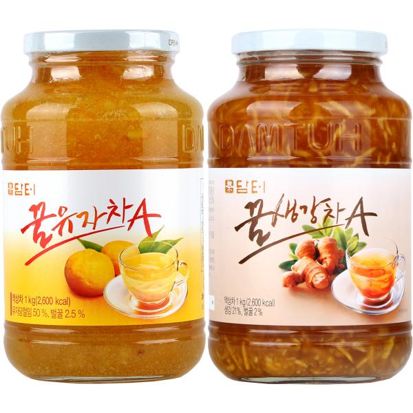 담터 꿀유자차A 1kg + 꿀생강차A 1kg (무료배송), 단일상품