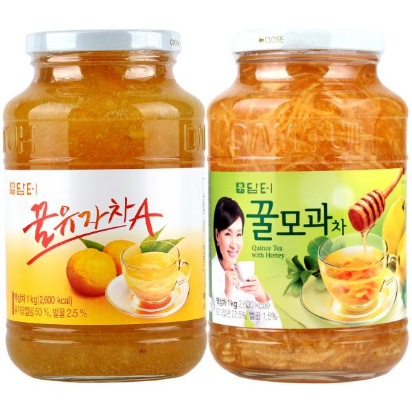 담터 꿀유자차A 1kg + 꿀모과차 1kg (무료배송), 단일상품