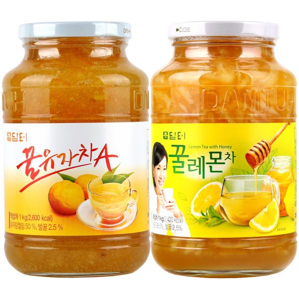 담터 전통차 세트, 꿀유자차 1kg + 꿀레몬차 1kg, 1세트
