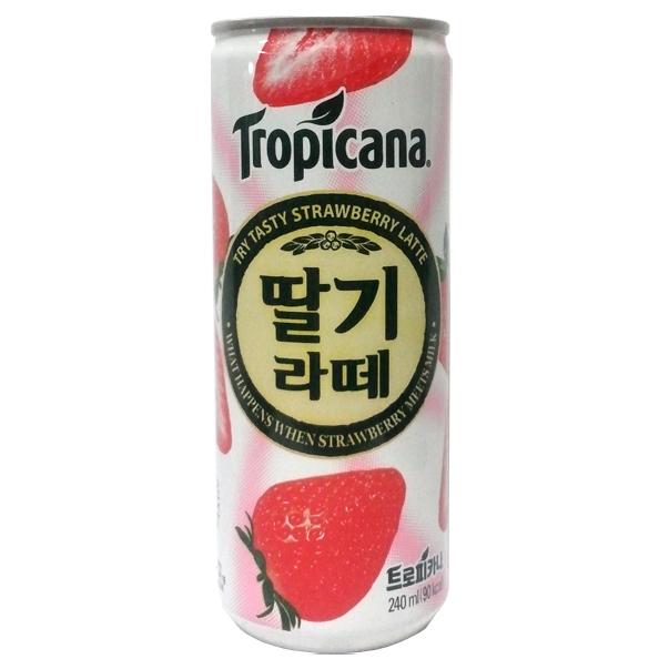 롯데칠성 트로피카나 딸기라떼 240ml 캔, 30개, 1박스