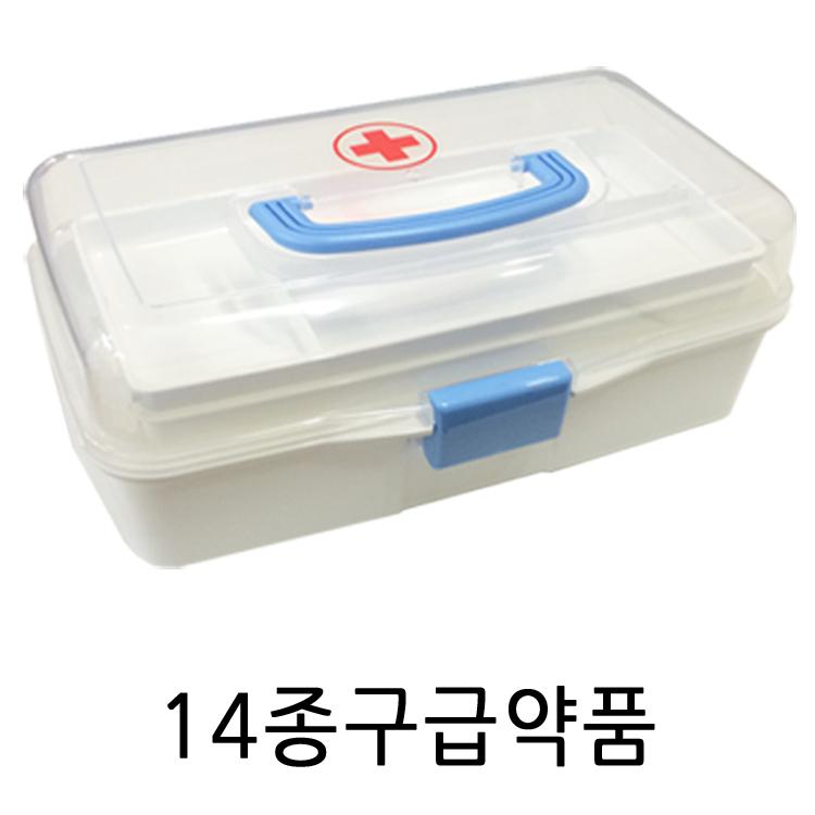 우리집안전지킴이 스피드구급함, 투명구급함 T2+14종구급약품 (POP 1558280)