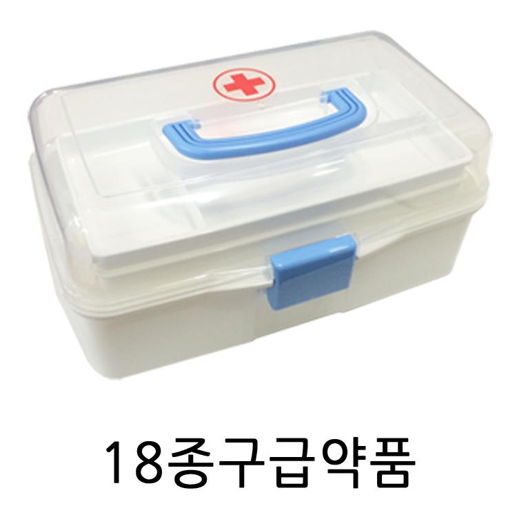 우리집안전지킴이 스피드구급함, 투명구급함 T1+18종구급약품 (POP 1558280)