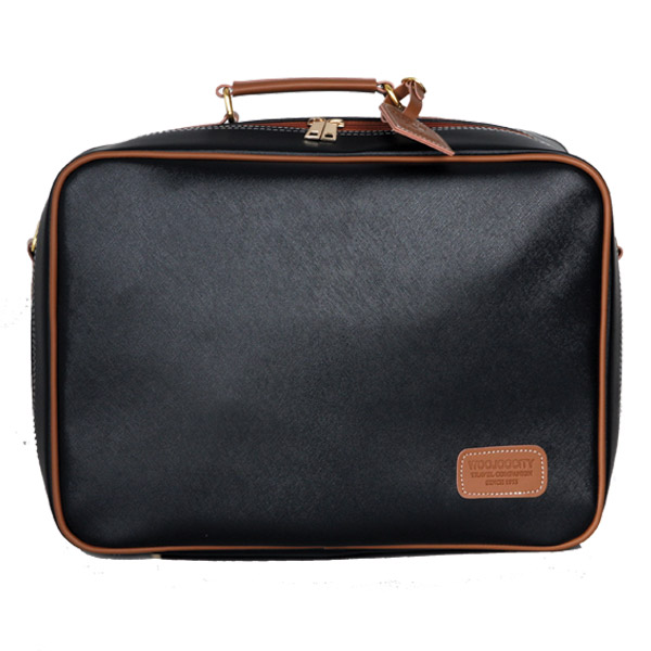 우주표가방 P411 사각플레이-블랙 심플 보스톤가방
