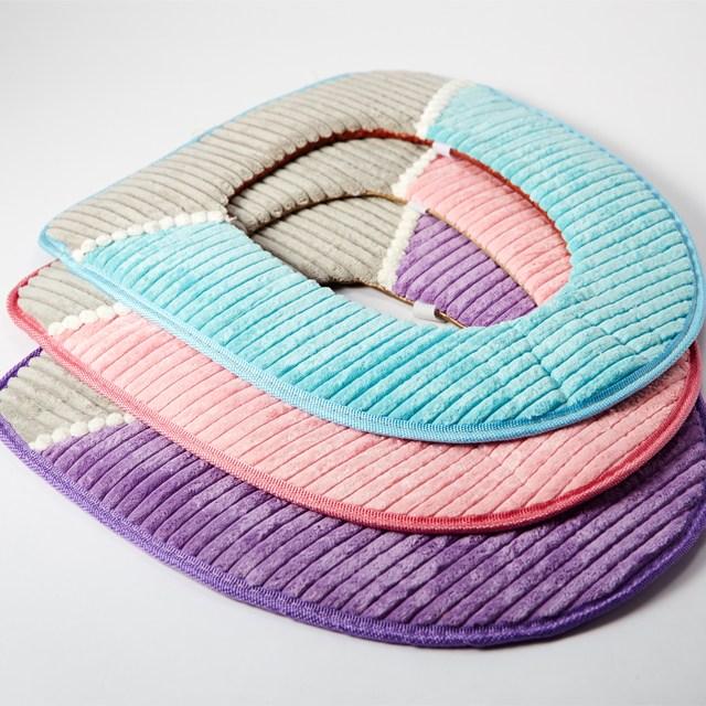 미스터홈 극세사 변기커버 변기시트, 핑크, 1개