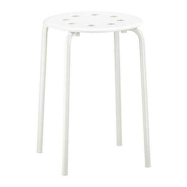 IKEA MARIUS 스툴의자 화이트, 단일상품