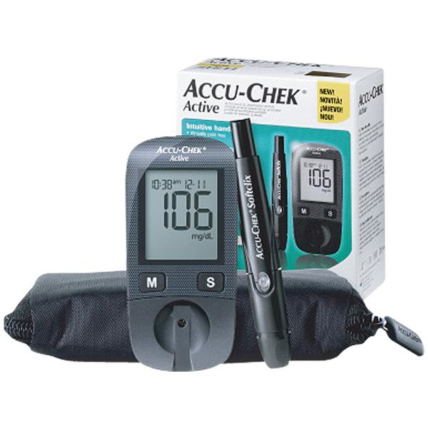 로슈 아큐첵 액티브 GU 혈당계 혈당측정기 세트, 솜100개+침100개 세트