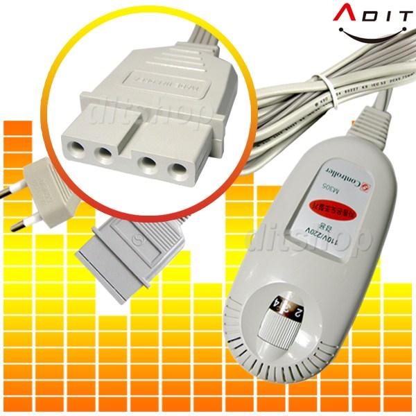 세운상가 ADIT 전기장판 전기요 4구 4핀 온도조절기, BC0158, 1개