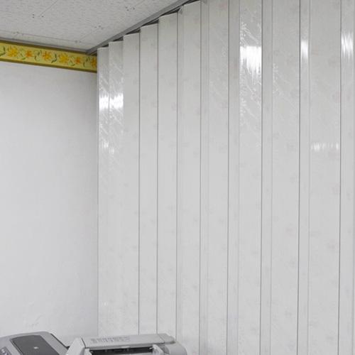 리빙텍스 홀딩도어 자바라 D타입, 16.홀딩 D-이중 꽃무늬, 개폐방식-1.편개