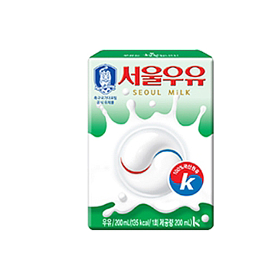 서울우유 멸균 흰우유, 200ml, 48팩