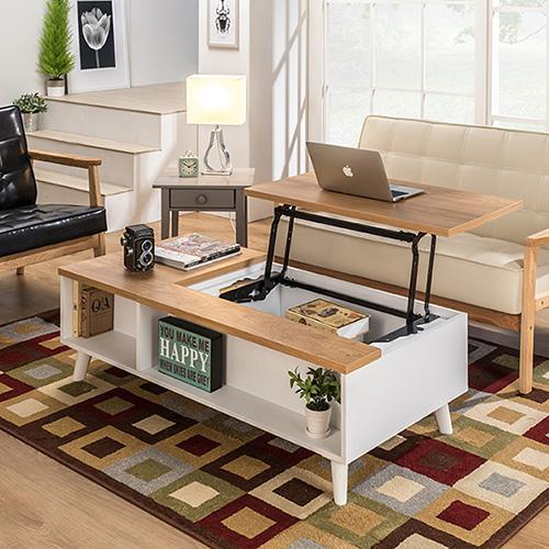 아트랙 벨로 리프트 소파 테이블, 1200서랍형(오크)
