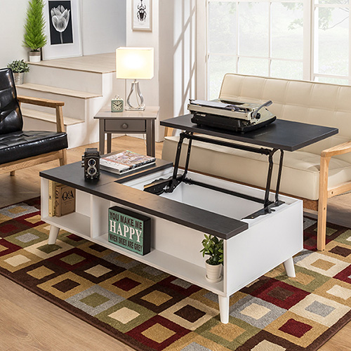 아트랙 벨로 리프트 소파 테이블, 1200서랍형(다크그레이)