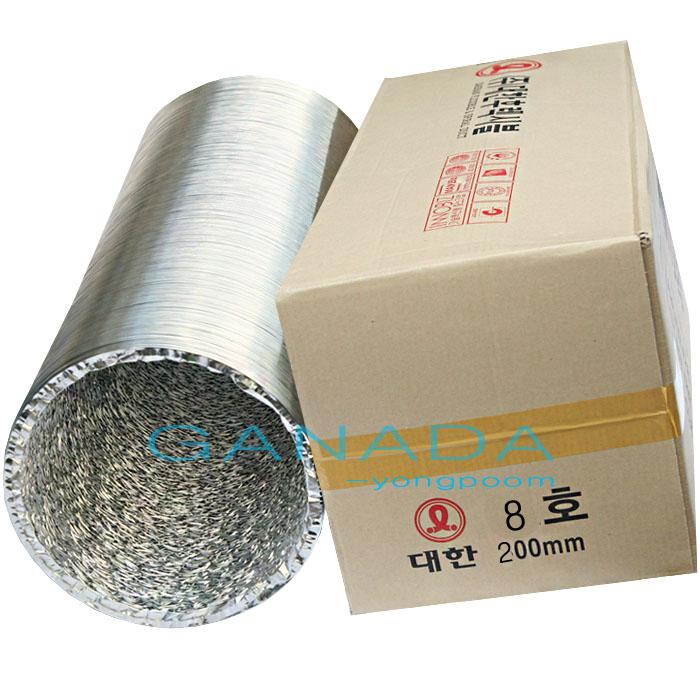 알루미늄닥트호스200mm 플렉시블닥트호스 후렉시블 환풍기자바라 덕트호스, 1개