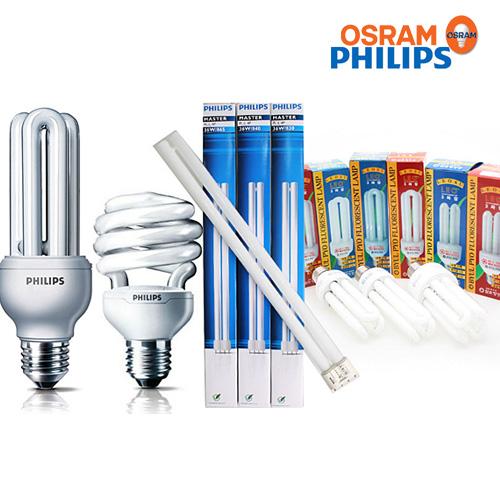 필립스 오스람 삼파장 PL램프 전구, 06-1 에센셜 20W (주광색-흰빛), 1개