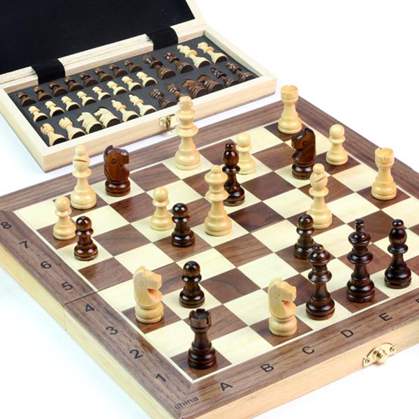고급 원목자석체스 / 휴대용 보드게임 두뇌개발 IQ EQ, 대신_골드 원목 자석 체스(30)