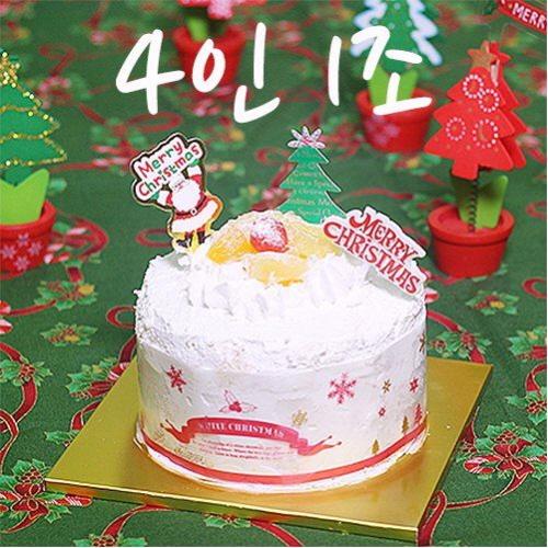 이홈베이커리 X-mas 크리스마스케이크 만들기세트, 1개, 선택01 (4인1조) 미니케익
