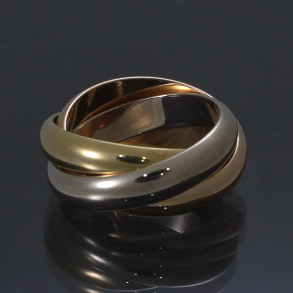Cartier(까르띠에) B4052700 트리니티 미디움 18K 3색 반지(7호)