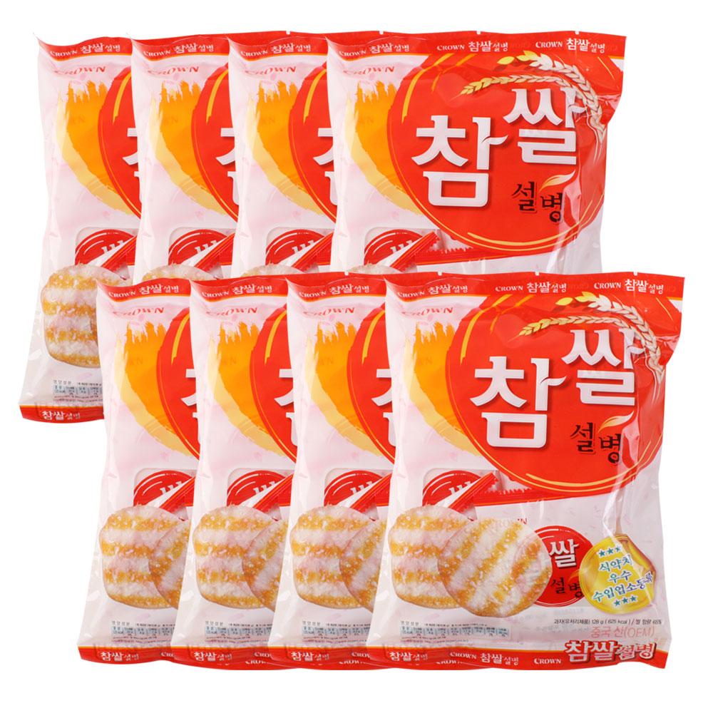 크라운 참쌀설병, 128g, 8개