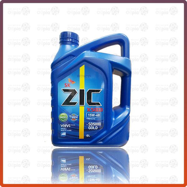 ZIC X5000 15W40 6L 디젤엔진오일 엔진오일, 1개