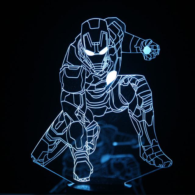 에코팩토리 3D 무드등 LED조명, A-4 아이언맨 좌상