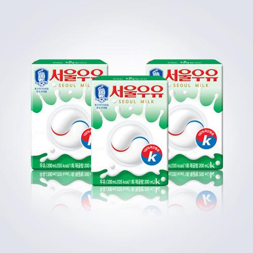 서울우유 멸균흰우유 멸균 흰우유200mx48팩, 48팩