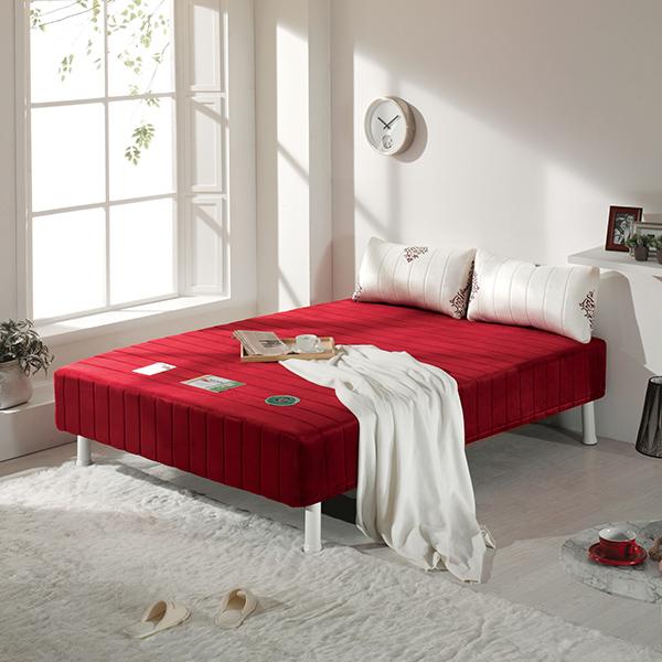 하포스 정품 단면 매트리스 침대 본넬스프링매트리스, 09_와인, 02_높이 19.5cm(일반침대 높이)