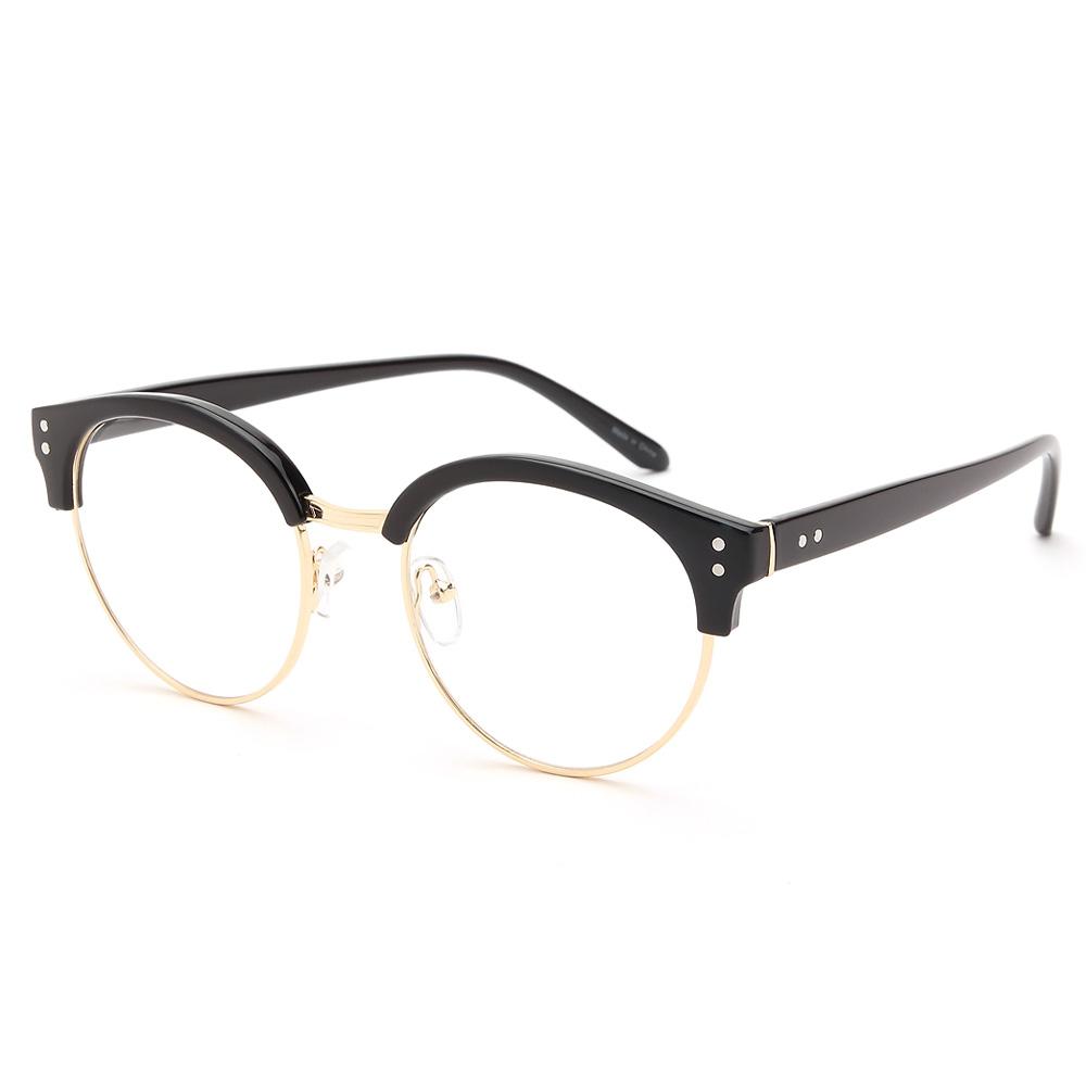 올리버프레임 라운드형 하금테 안경 G6602 뿔테