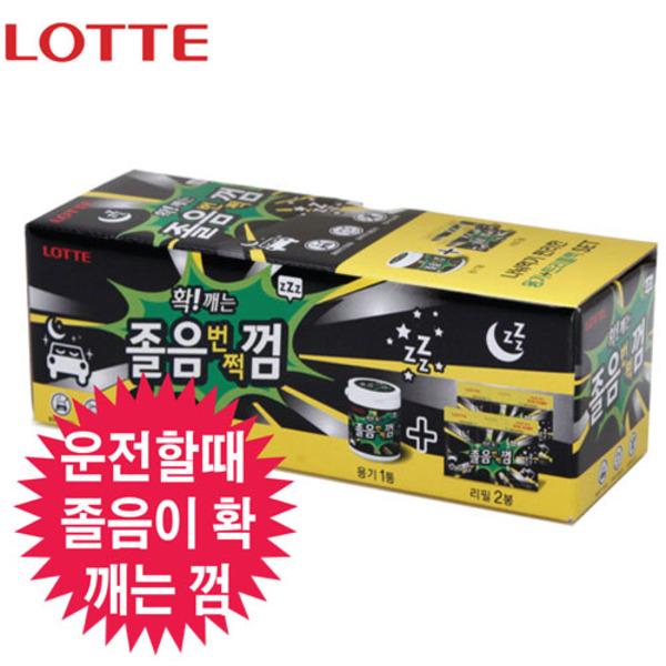 롯데 졸음껌(용기+리필2ea) 297g 껌 리필, 1세트