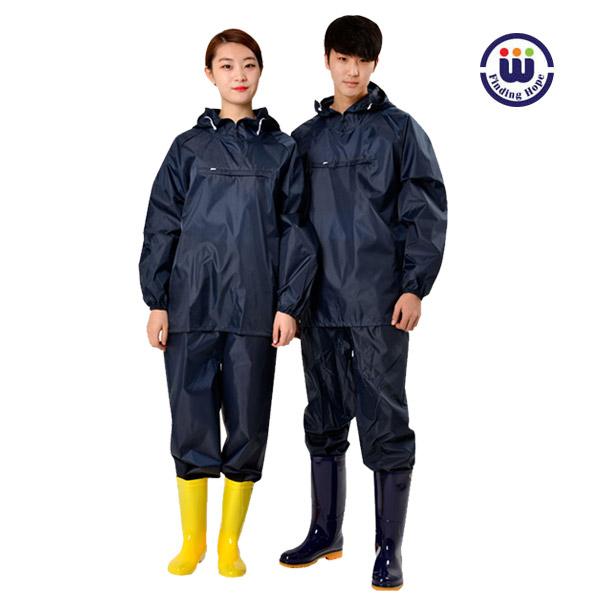 우경몰 Waterproof 발수코팅 작업복 방역복 방진복 농약살포용, 곤색