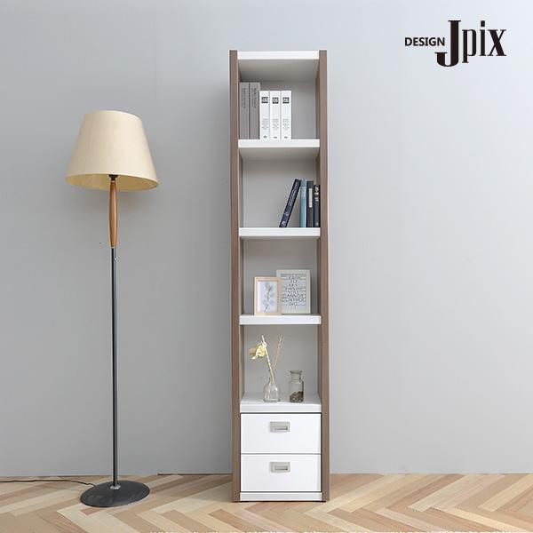제이픽스 플레어 틈새 5단 400 책장 서랍형 / JPN023, 오크화이트