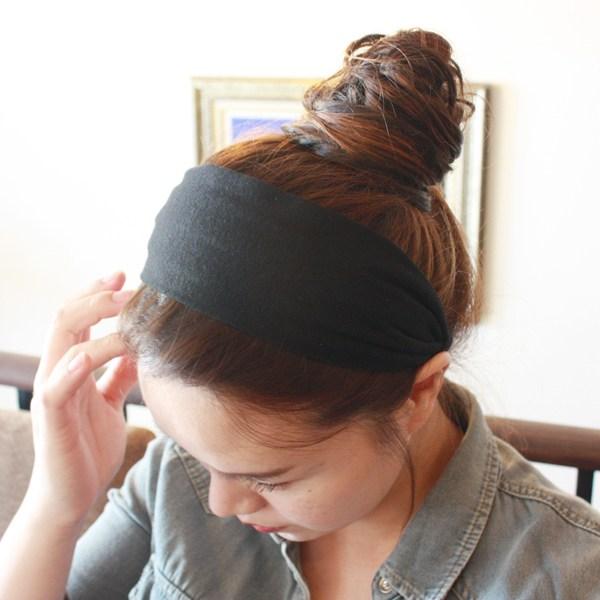 레인걸 넓은 머리띠 면 니트 헤어밴드[10가지칼라] (A-3194)