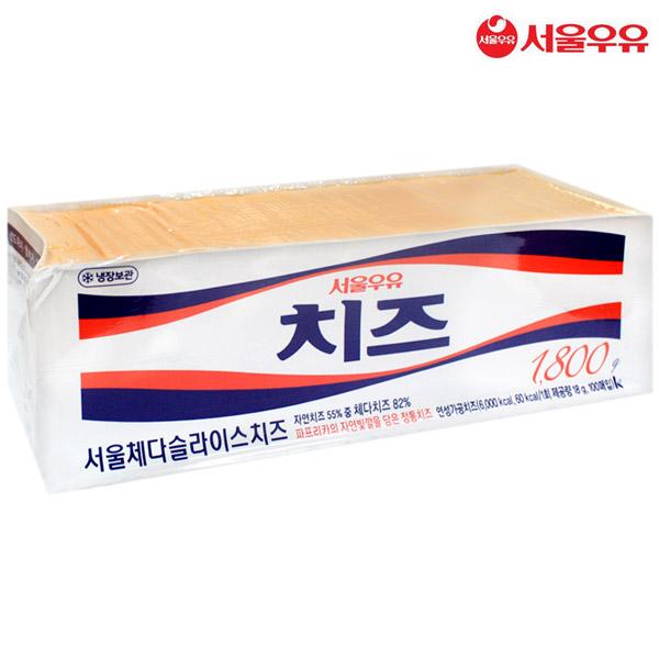 서울우유 서울 체다슬라이스치즈 1.8kg(아이스박스), 1.8kg, 1개