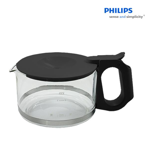 필립스 커피메이커 유리용기 HD7990 유리잔, 블랙색뚜껑, 1개