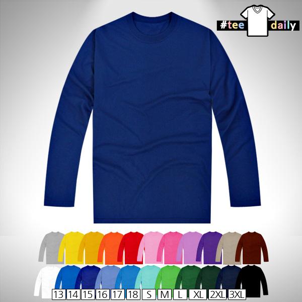 티데일리 남녀공용 30수 라운드 긴팔 티셔츠